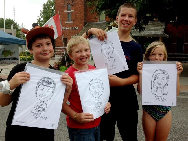 kids drawn at outdoor festival