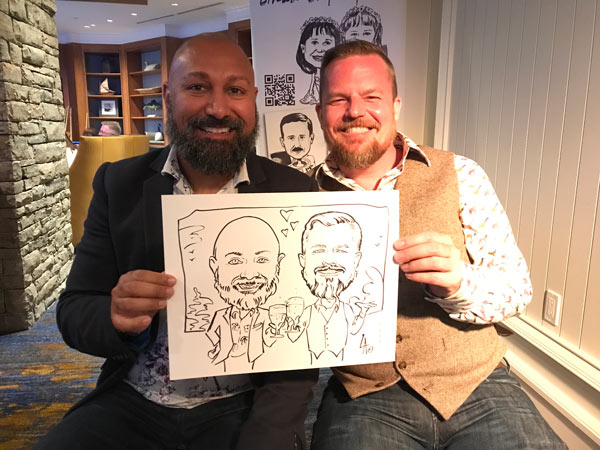 caricatures drawn at lake rousseau conference